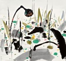 中国风水墨风景国画