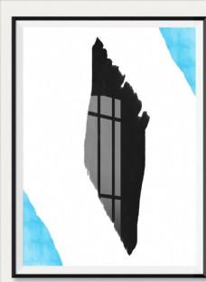 手绘抽象装饰画