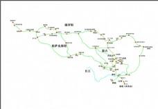 茶马古道线路图
