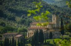 意大利托斯卡纳地区小镇城堡风光