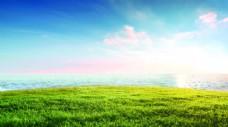 天空草地背景