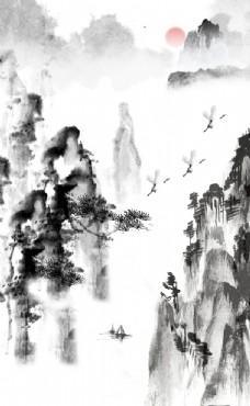 中式水墨山水 装饰画