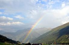 山脉 彩虹