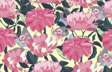 彩色的花卉艺术无缝图案背景