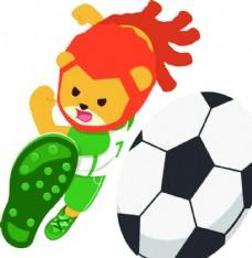 足球海报 卡通