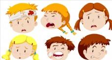 卡通伤病儿童头像