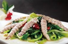 菠菜炒蝦爬肉