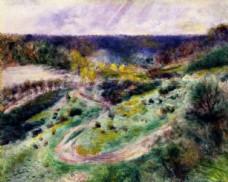 雷诺阿风景油画