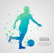 抽象足球球员矢量素材