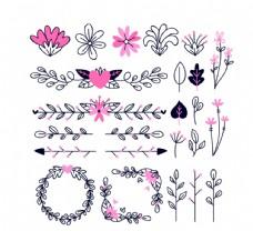 创意装饰花纹花卉