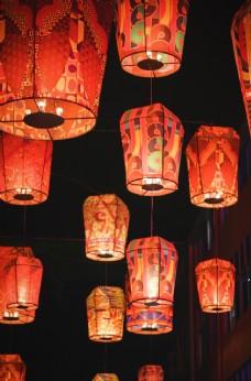 燈籠國風復古新年節日背景素材