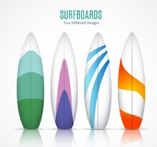 精美冲浪板矢量素材