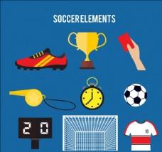 创意足球元素矢量素材