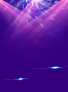 紫色光线海报背景