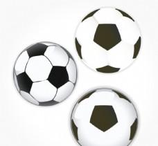 黑白足球设计矢量素材