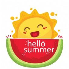 夏日西瓜太阳