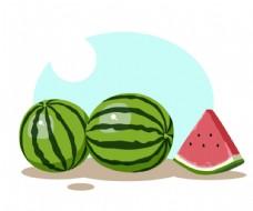 水果系列矢量插画之西瓜