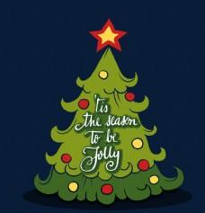 卡通圣诞树素材
