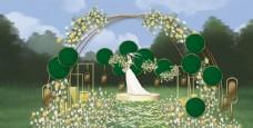 户外绿色婚礼后果图