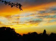 油画天空风景