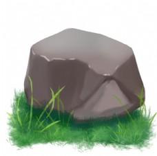 石头 石子 草地 石块 草坪