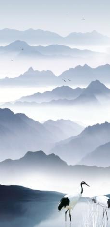 中式山水装饰画