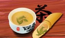 茶杯传统国风古风插画卡通背景
