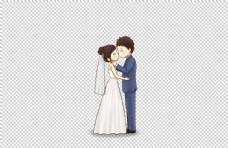 结婚婚礼人物卡通海报素材