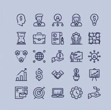 簡約線性商務icon圖標設計