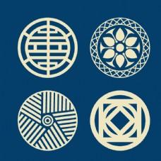 中国风花纹