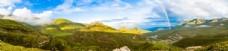山间的彩虹