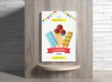 冰淇淋海报