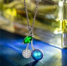 藍色珍珠項鏈