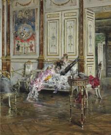 古典油画美女
