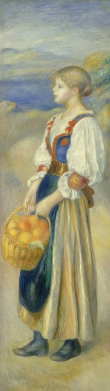 人物形象复古油画