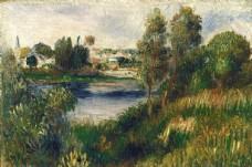 复古色调风景油画