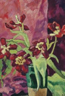 静物花朵植物油画