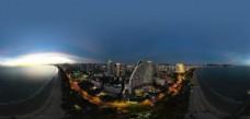 夜色中海月广场