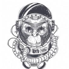 创意卡通猴子插画