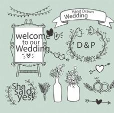 创意手绘婚礼素材