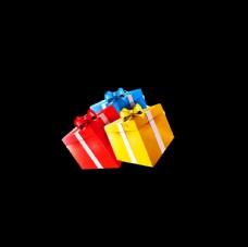 礼品礼物盒 红色黄色 绿色蓝色