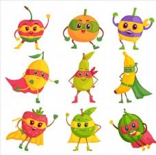 卡通水果人
