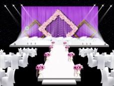 紫色婚禮舞臺