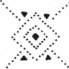 规则对称虚线矢量图案