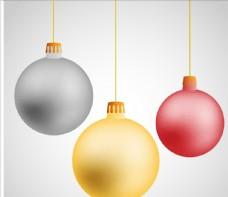 悬挂圣诞球矢量