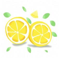 柠檬素材手帐插画