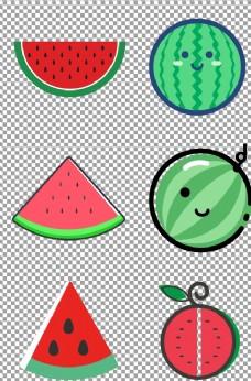 扁平化手绘西瓜