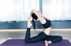 瑜伽运动健身人物女性背景素材