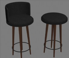 吧椅  3D设计模型