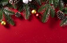 圣诞节红色节日背景素材